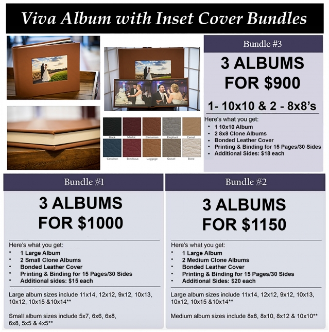 Viva album with inset cover bundle