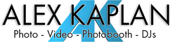Alex Kaplan Photo Video Photobooth Logo