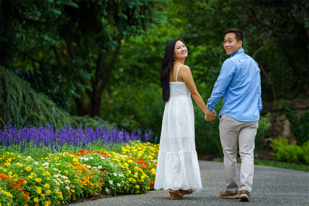 couple photography at nj deep cut garden